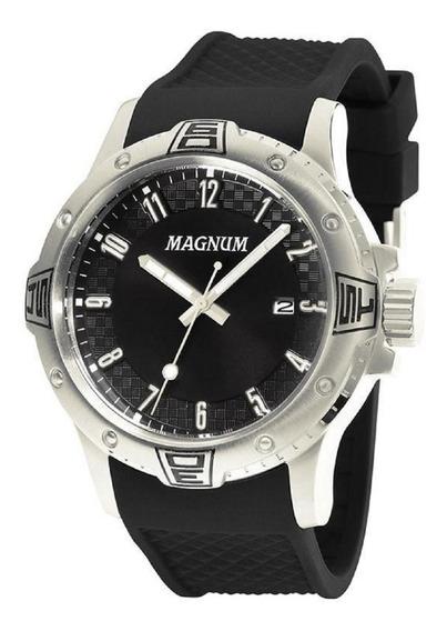 Relógio Magnum Analógico Ma34414t Preto 24 Meses De Garantia