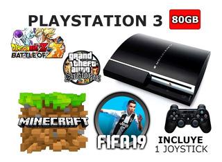 Playstation 3 Fat 80gb Juegos Incluidos Minecraft Mk Fifa19