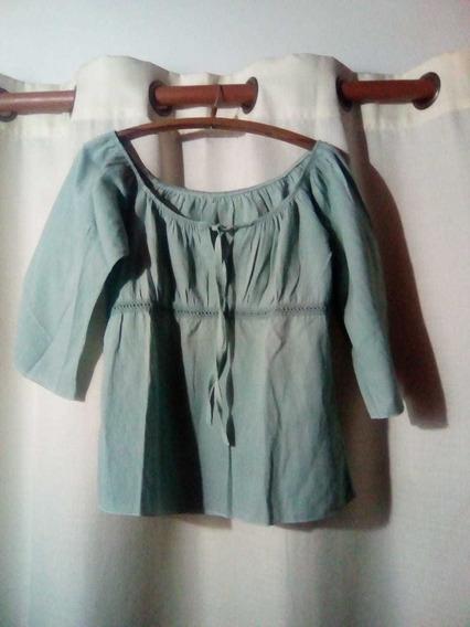 * Hermosa! Camisa De Lino Para Mujer* Talle: L* Super Fresca