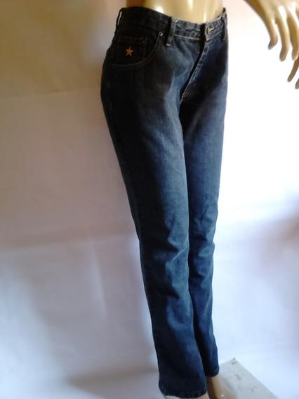 Calça Jeans Feminina Azul Escuro Estrela Guaraná Brasil 42