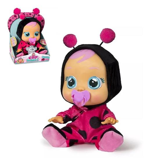 Boneca Cry Babies Lady Chora De Verdade C/ Chupeta Multikids