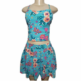 Blusa Cropped Feminino Regata E Shorts Moda Verão 711