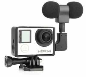 Microfone Profissional Para Gopro Hero 3+ E 4 Frame