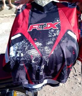 Jersey Y Pantalón Fox Motocross O Bicicross Para Niño