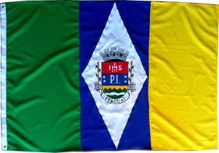 Bandeira Oficial Bordada Itaguai Municipio Rio De Janeiro