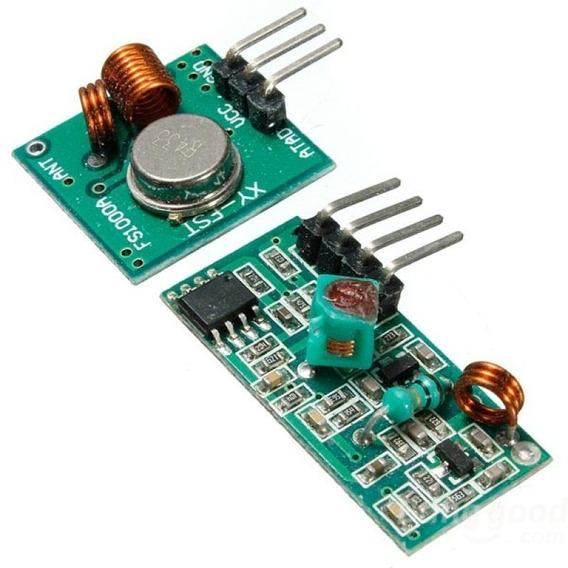 Kit Transmissor E Receptor Rf 433mhz