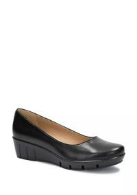 Confort Flat Zapatilla Loafer Mujer Negro De Piel 2365787