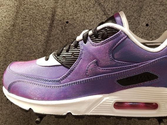 Zapatilla Nike Air Max 90 Violeta Tornasola Del 35.5 Al 42