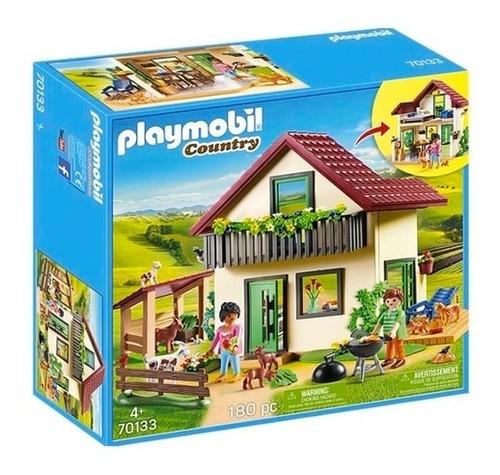 Playmobil Casa De Campo Moderna Int 70133 Orig Intek