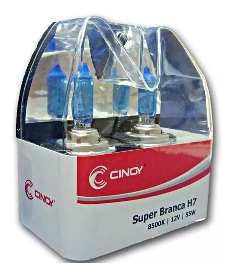Par Lâmp Super Branca Cinoy Tipo Xenon H1 H3 H4 H7 H11 Hb4 +