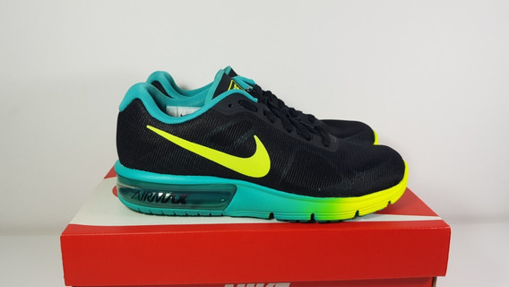 Tênis Nike Air Max Sequent Pr/vrd Feminino Original