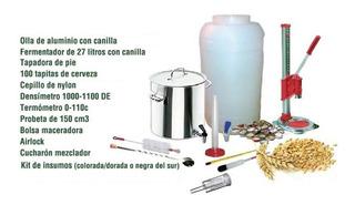 Kit Masterpro Produccion Cerveza Artesanal 20l Incl. Insumos