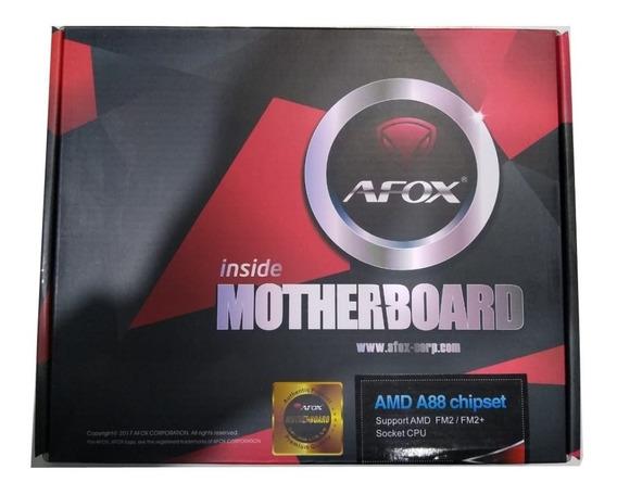 Placa Mãe Afox Fm2+ A88-mafm2 + Processador A4 6300 Novo !!!