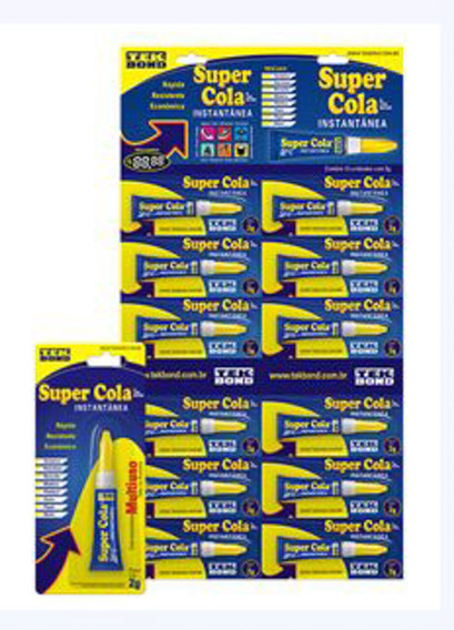 Super Cola Tekbond 2g Cart 12 Unidades - Tekbond