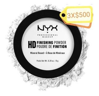 Nyx Polvo Translúcido Blanco Acabado Mate 8g. C/u 3x$500