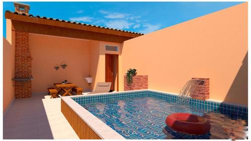 Casa Na Praia Com Piscina E 2 Quartos Em Itanhaém Ca109-pc