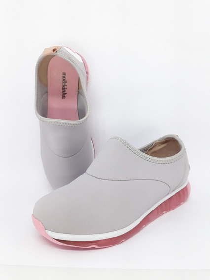 Tênis Casual Fashion Molekinha Cinza 2521.101