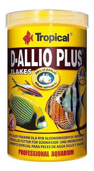 Ração Fortificada Com Alho Tropical D-allio Plus Flakes 20g