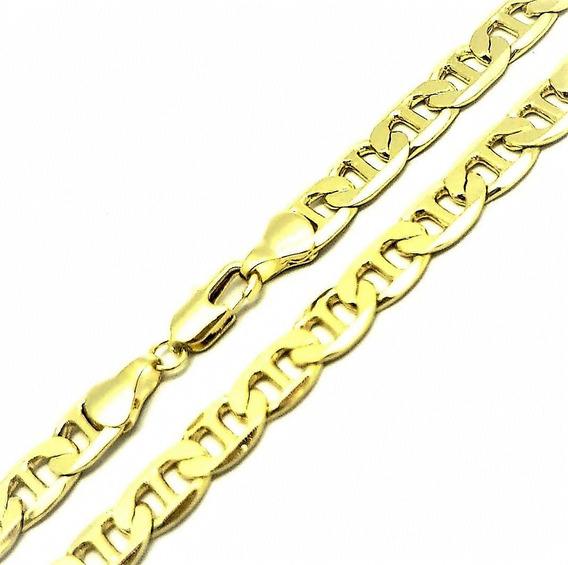 Cordão Corrente Masculina Piastrine 70cm Banho Ouro 18k 4693