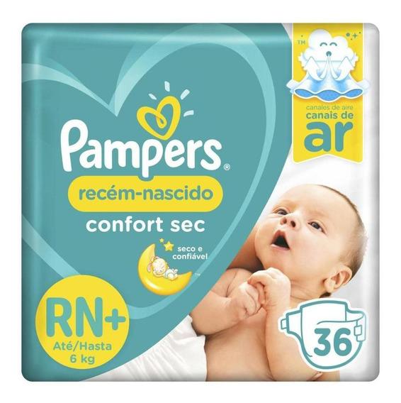 Fralda Pampers Confort Sec Rn Plus 36 Unidades - Até 6kg