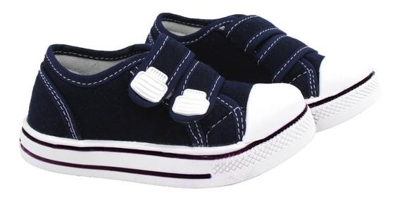 Tênis Escolar Infantil Star Casual Lona Ajuste Velcro
