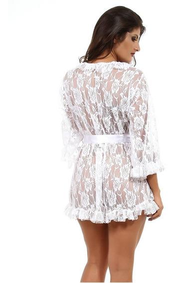 Robe Em Renda Sexy E Sensual - Moda Íntima Mia Lingerie