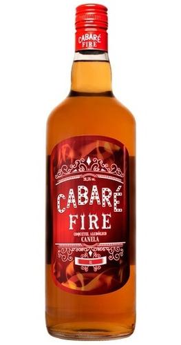 Imagem 1 de 4 de Cachaça Cabaré Fire - 1 Litro Sabor Canela