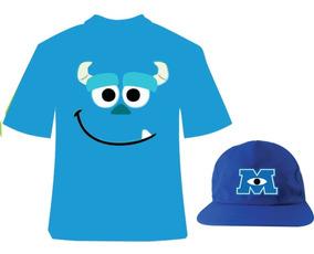 Fantasia Camiseta Monstros Infantil E Boné Personalizado