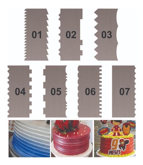 Espátulas Decorativas De Bolos De 15cm, 7 Peças 13 Desenhos