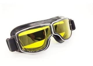Óculos De Moto Visão Noturno Com Lente Amarela Premium P3