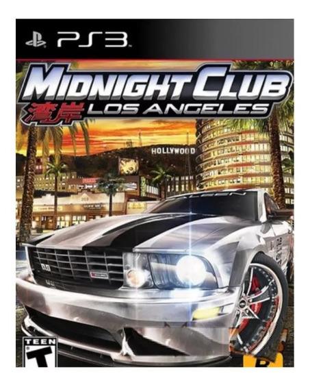 Midnight Club Los Angeles Ps3 Jogo Psn Envio Rápido