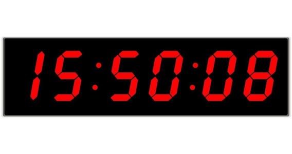 Reloj Digital De Pared Led Control Remoto Cronómetro 46 X 22