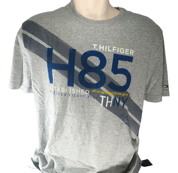 Camisa Masculina Tommy Hilfiger H85 Cinza