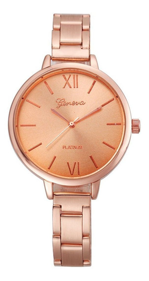 Relógio Feminino Oferta Geneva C/ Garantia Aço Inoxidável