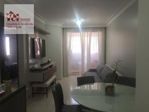 Apartamento Com 3 Dormitórios À Venda, 90 M² Por R$ 470.000,00 - Centro - São Bernardo Do Campo/sp - Ap3080