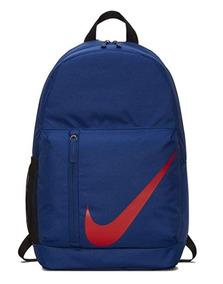 Mochila Escolar Juvenil Mujer Hombre Nike Azul/rojo Original