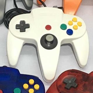 Control Alambrico Para Nintendo 64 N64 Nuevo Colores Sólidos