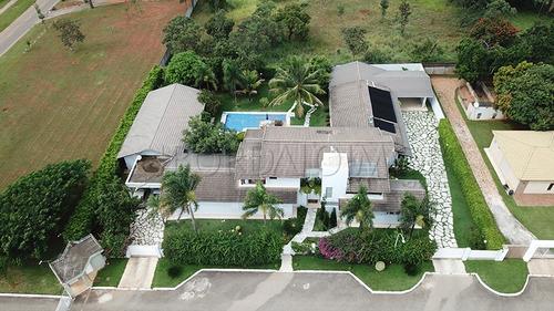 Oportunidade - Casa Com Habite-se De 800m² + Casa De Apoio Com 180m² Com  3 Quartos, Lazer Completo. - Villa114776