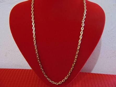 Cordão De Ouro 18k Masculino Cadeado 70 Cm 12 Gramas