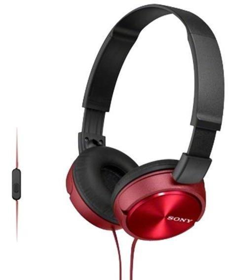 Fone De Ouvido Supra Auricular Com Microfone Sony Zx310 Verm