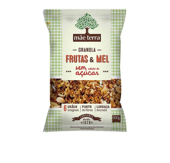 Granola Frutas & Mel Mãe Terra Pacote 800g