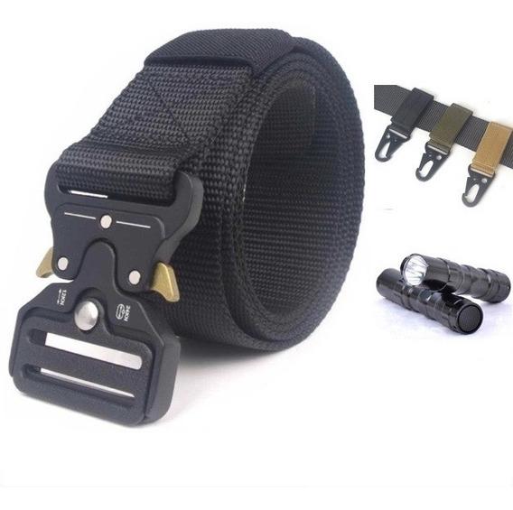 Cinturón Táctico Tipo Asalto Militar +3x Mosqueton Y Regalos