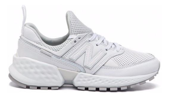 Tenis New Balance 574 Sport White Leather