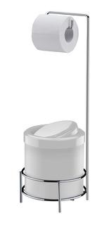 Suporte Porta Papel Higiênico Com Lixeira 5 Litros De Chão - Future 1105