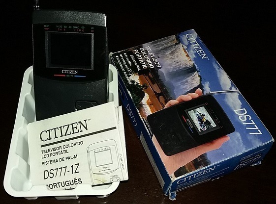 Mini Tv Color Lcd Ds777 Citizen - Edição De Colecionador