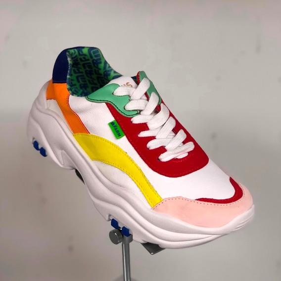 Tênis Farm Branco Colorido Dad Shoes Sneaker - Berti Maria