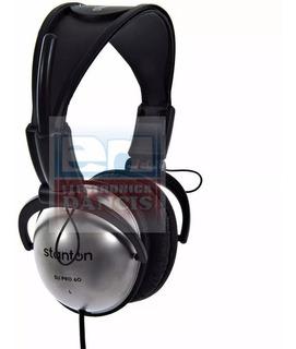 Auriculares Stanton Dj Pro 60 C/funda Y Adaptador 6.5 Mm