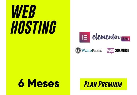 Web Hosting - Plan Premium - Wordpress - Ssl - $487xmes