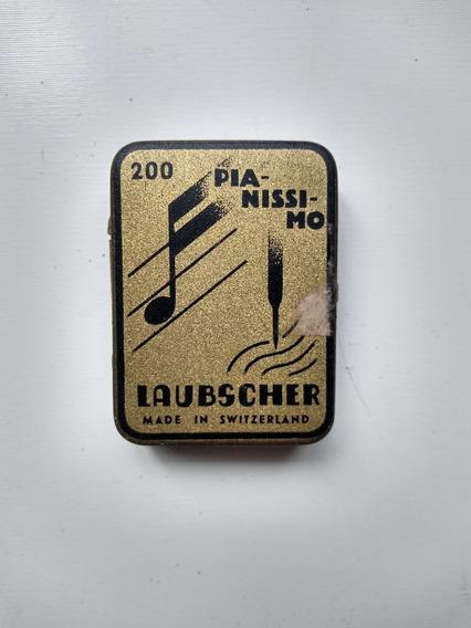 Caixa Agulhas Para Gramofone Suíça Laubscher Pianissimo