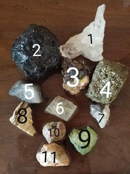 Set De Minerales Diversos En Bruto